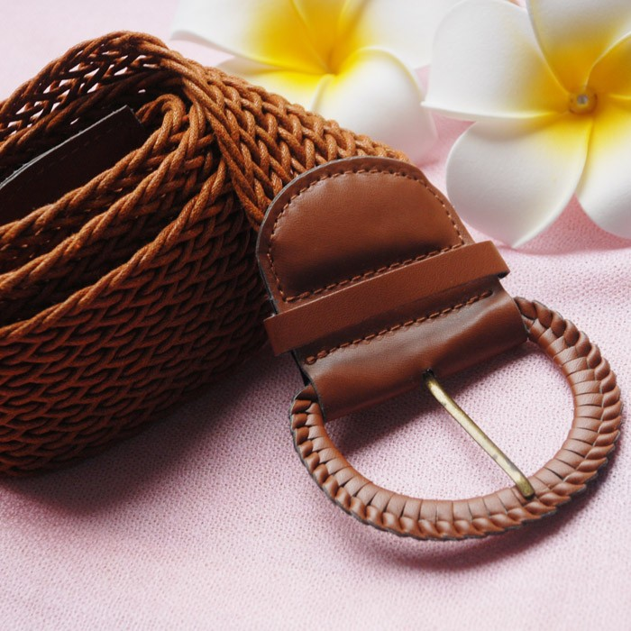 Original single bohemian exotic fashion wild braided leather belt Ms. Belt Buckle alloy lap with pin buckle(China (Mainland))