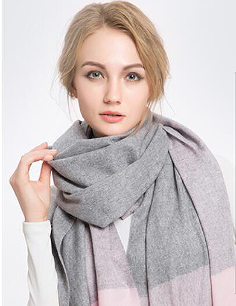 100%Cashmere Scarf Women Gray&Pink Tartan Black Pashmina Spring Winter Natural Fabric Extra Soft&Warm High Quality Free Shipping