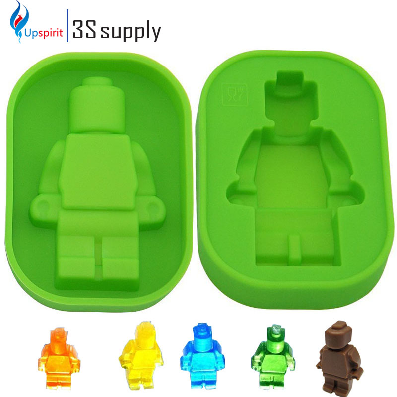 New Robot Silicon Mould Cake Ice Chocolate Molds Fondant Tools Bakeware Baking Accessories Cute Cake Decorating Soap Mold(China (Mainland))