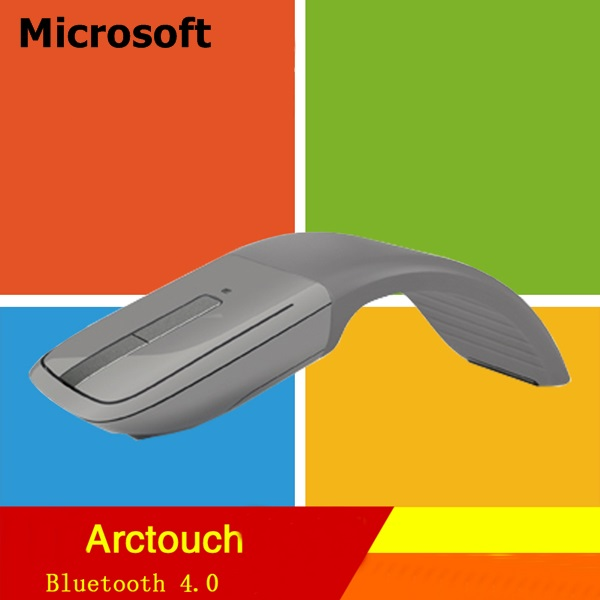New Arrival Genuine Microsoft Arc Touch Bluetooth Mouse Ultraportable Bluetootn 4.0 Wireless Mouse Bluetrack Technology(China (Mainland))