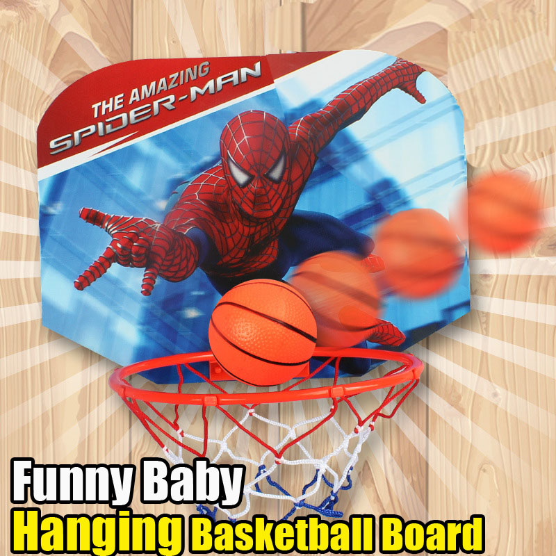 Spiderman Children Basketball Hanging Set Toy Balls Mini Basketball Game Funny Indoor Outdoor Toys Games Baby Ball Sport(China (Mainland))