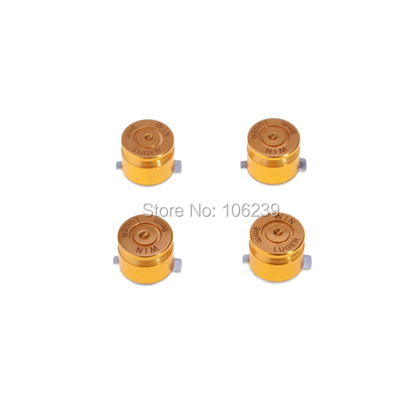 Chrome Aluminum Metal Bullet Buttons for PS3 Controller Part(China (Mainland))