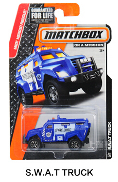 Authorized sales Hot Wheels Matchbox Series s.w.a.t truck kids toys Plastic metal miniatures cars model 30782 collectible toy(China (Mainland))