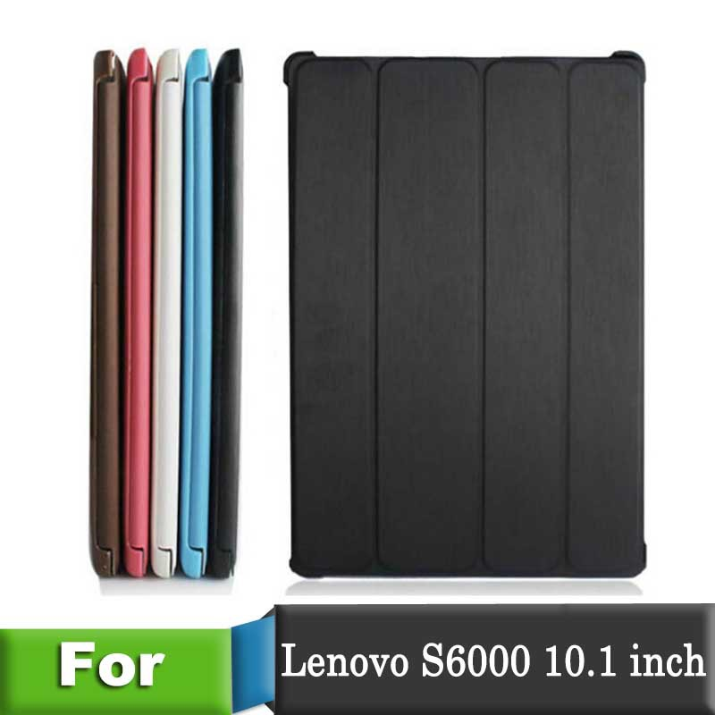 Гаджет  New Arrival Leather Back Cover for Lenovo S6000 Stand Skin case For Lenovo S6000 Slim Leather Case 5 Color drop shipping  None Компьютер & сеть