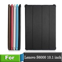 Leather Stand Cover for Lenovo S6000 10.1 inch case Tablet PC For Lenovo ideatab S6000 10.1″ case  Free shipping