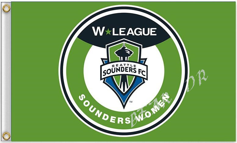MLS Seattle Sounders FC Flag 3ft x 5ft Polyester Football Banner Flying Flag(China (Mainland))