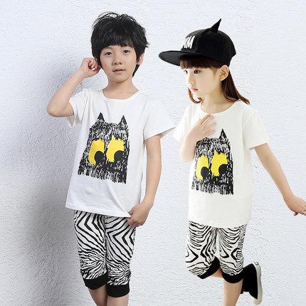 Discount Retail Child's clothing sets kid boys girls cartoon sport suit kids clothes clothing set size 100-150 kikikids(China (Mainland))