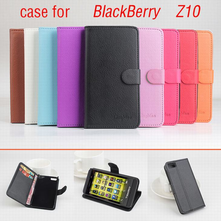 9 colors Classic Leather case For BlackBerry Z10 Z 10 Flip Cover case housing With Card Slot London Surfboard Phone Cover Cases(China (Mainland))