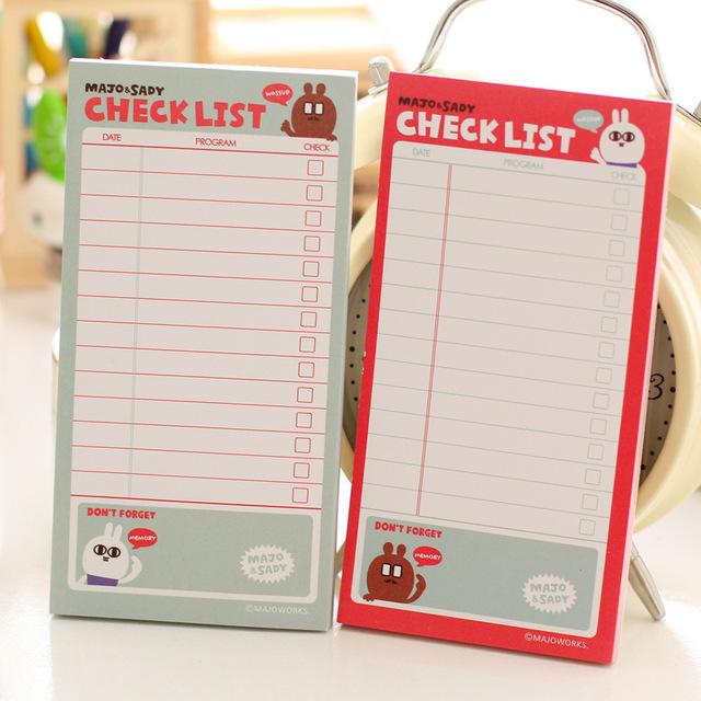 Checklist (To Do List Post) Memo Pad