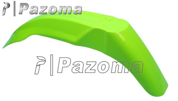 PAZOMA New Green Motorbike Supermoot Universal Front Fender Plastic Fits Kawasaki Kx125 Kx250 Kx500 Kdx200 Kdx220 Free Shipping(China (Mainland))