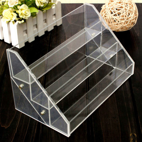 3 Tier 30 Bottles Clear Acrylic Display Stand Large Rack Organizer Nail Polish Salon Wall Cosmetic Free Shipping Good Quality(China (Mainland))
