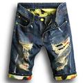 Cheap Large Big Size Holed Distressed Men Denim Shorts Male Ripped Jeans Bermuda Plus Size 5XL
