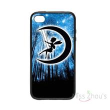 For iphone 4/4s 5/5s 5c SE 6/6s plus ipod touch 4/5/6 back skins mobile cellphone cases cover Tinkerbell Moon