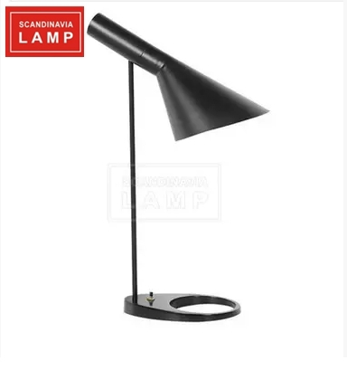 Nordic AJ Lamps | Replica Arne Jacobsen Table lamp black and white ash three color in stock(China (Mainland))