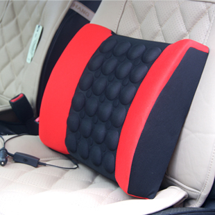 4 colorsRed, Black,Gray, beigeCar electric massage lumbar support vehienlar household cushion car cushion tournure auto supplies(China (Mainland))