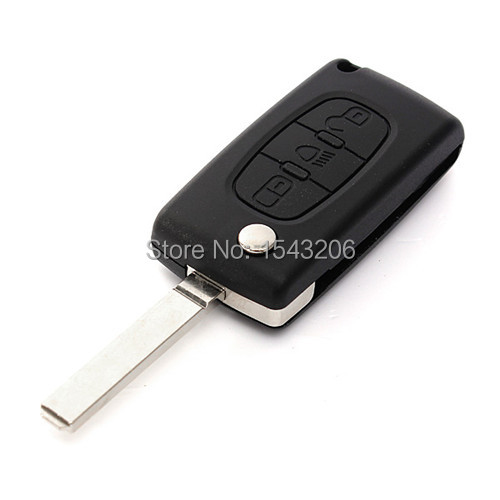 Replacement 3BTN Remote Key Fob Case Shell Uncut For Citroen C3 C4 C5 C6 Picasso(China (Mainland))