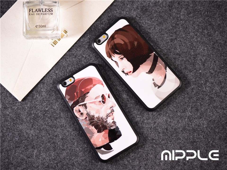 Classic Movies Leon  Conque de Cellphone Leon Mathilda Lover Cover For iPhone 6 6s 6 Plus 5S SE Black Fundas Case