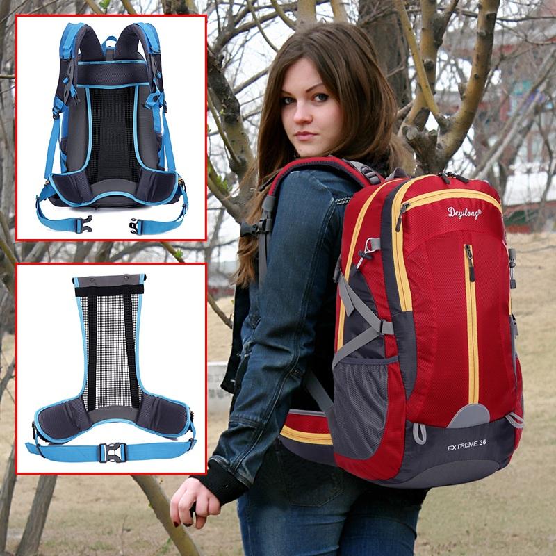 Deyilong outdoor bag mountaineering bag backpack 35l Men women's travel backpack ride(China (Mainland))