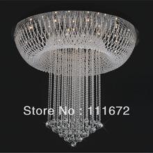 new flush mount modern luxury chandelier crystal lighting G4 luminare lustre foyer chandeliers(China (Mainland))