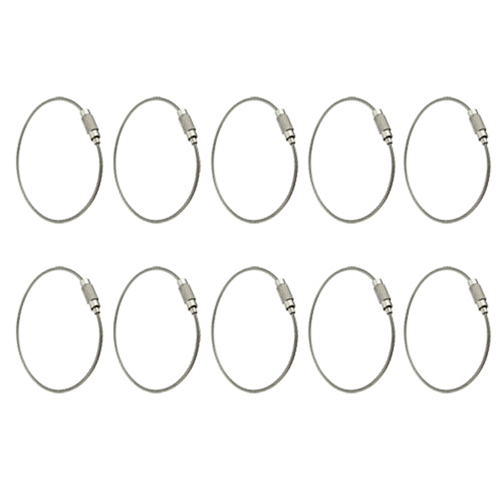 Гаджет  Super sell 10pcs Stainless Steel Screw Locking Wire Keychain Cable None Изготовление под заказ