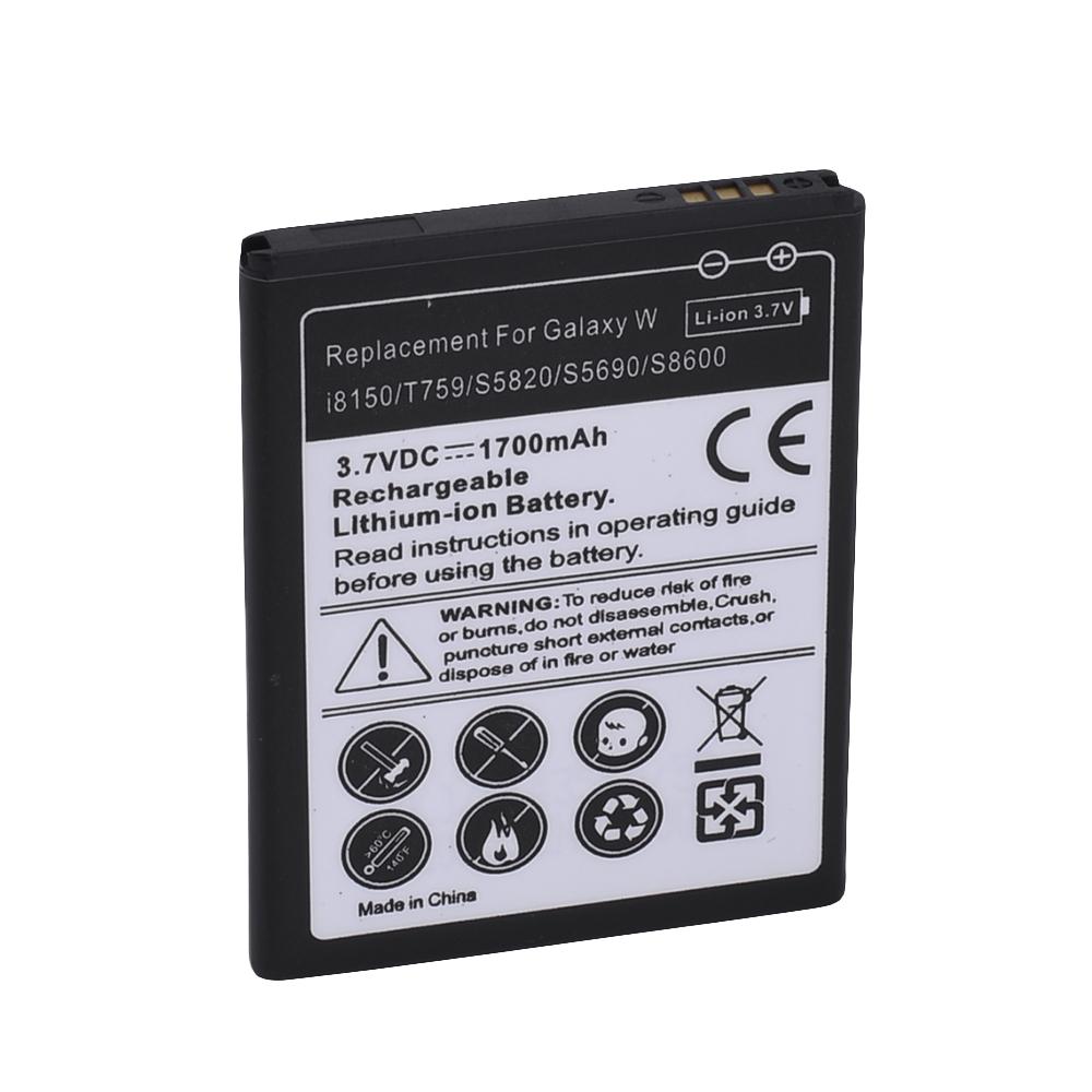 Гаджет  1700mAh Battery For SAMSUNG Galaxy S5820 I8150 W689 S5690 T759 I8350 S8600 M930 i110 R730 i677 Batterie Batterij  EB484659VU None Бытовая электроника