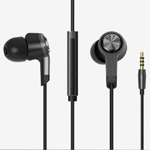 New Original Xiaomi Piston 3 Earphone 2015 In-Ear Earphones Wire Control Mic Top Quality for Cell Phone iPod Android – Black