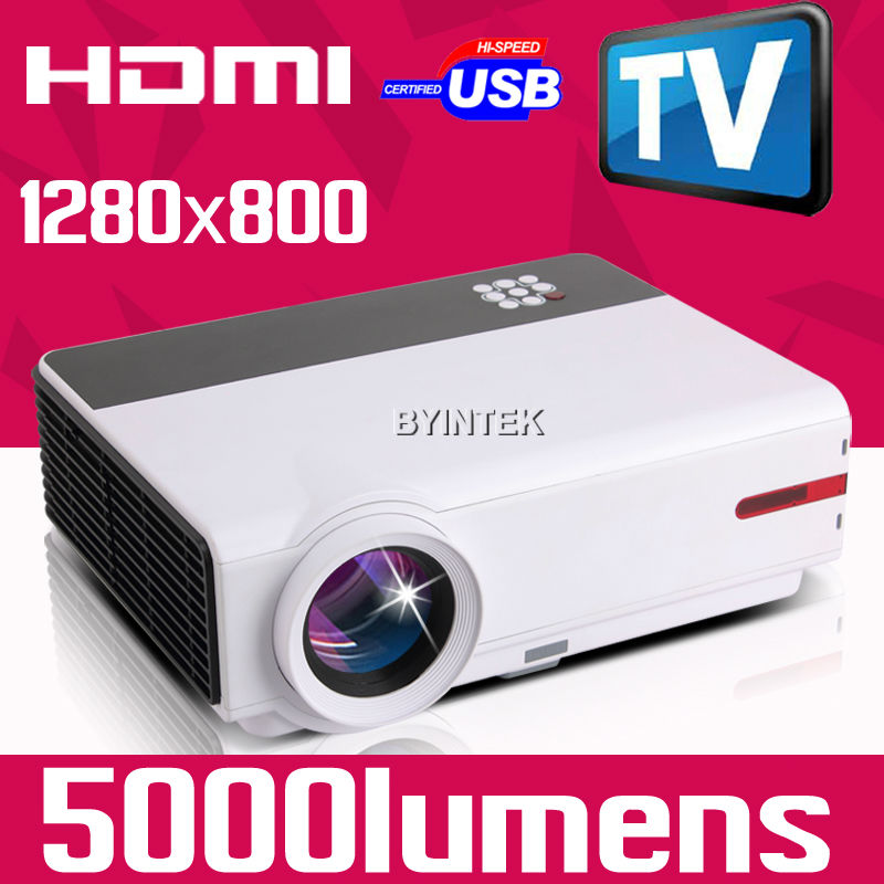 Newest Home Theater Digital Movie Film Cinema Home Theater 1280x800 720P 1080P Video HDMI LCD fuLL HD LED Projector TV(China (Mainland))
