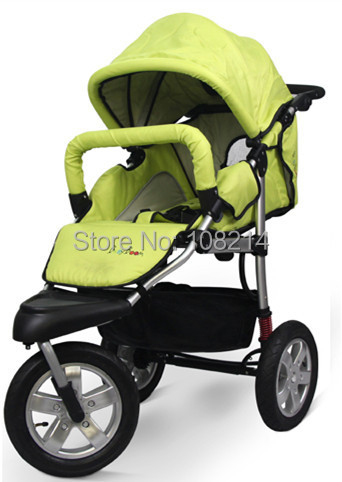 Fast Delivery 3 In 1 Folding Stroller High Quality Inflatable Wheels Baby Carriage with Cotton Cushion Podatheca Wholesale(China (Mainland))