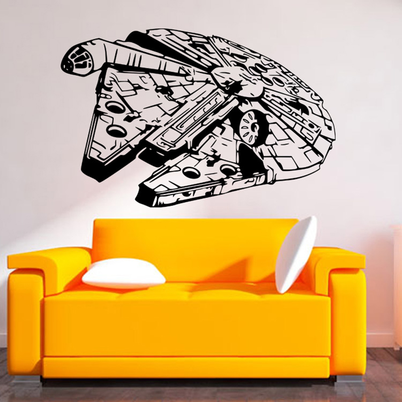 star wars wall stickers black creative decal sticker for