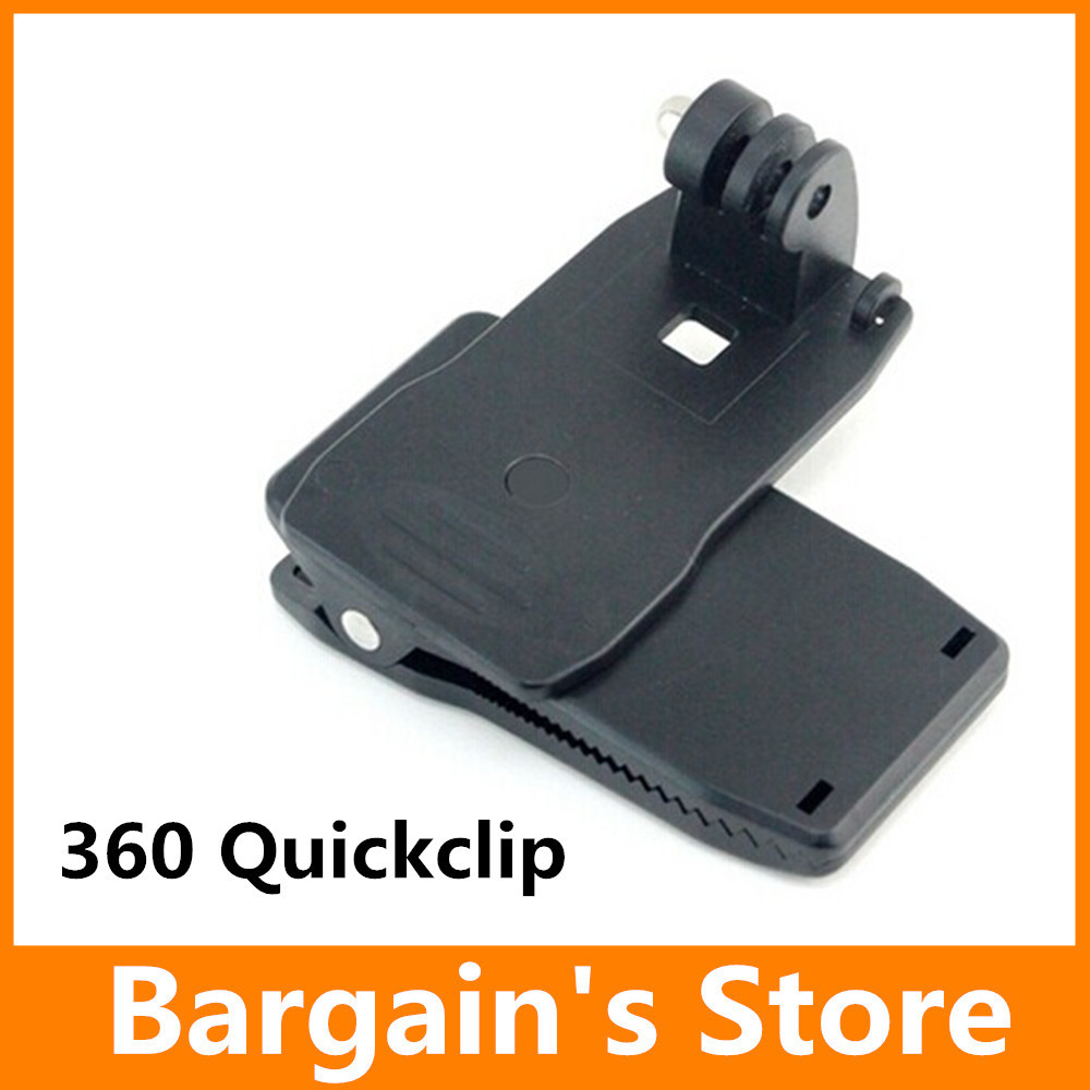 Gopro 360 Quickclip For GoPro Hero3/3+/4 SJ4000 Gopro Tripods Accessories Able to turn 360''(China (Mainland))
