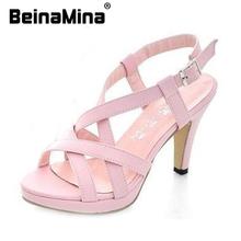 Size 32-43 Women's New High Heel Sandals Gladiator Fashion Lady Sexy Platform Sandals Heels Summer Shoes Sandals P372