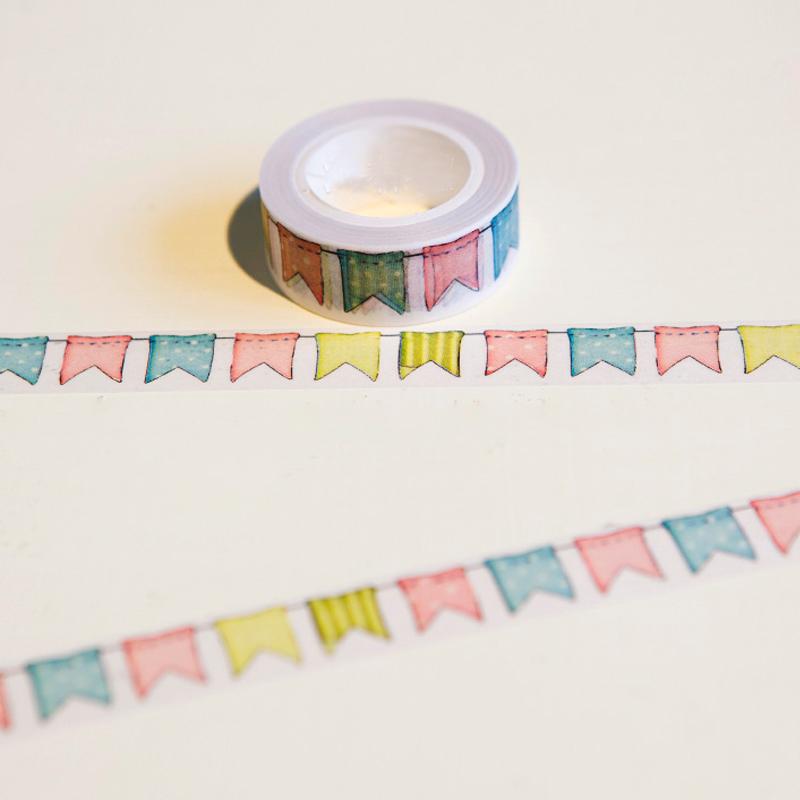 colour flag washi tape diy decoration scrapbooking planner masking tape adhesive tape. Black Bedroom Furniture Sets. Home Design Ideas