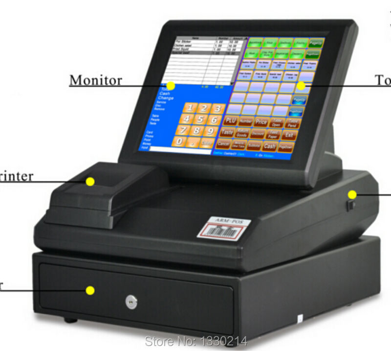 "China manufacturing 12"" touch screen all in one linux pos terminal(China (Mainland))"