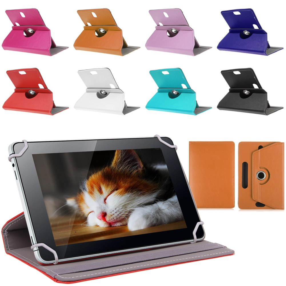 "Universal 9"" inch Tablet Case 360 Rotate Leather Stand Case Cover for 9 Inch Tab Protective Case(China (Mainland))"