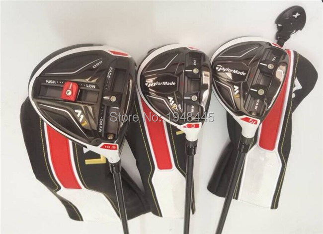 M1 Woods M1 Golf Woods OEM M1 Golf Clubs Driver + Fairway Woods Regular/Stiff Flex Graphite Shaft Come With Head Cover & Wrench(China (Mainland))