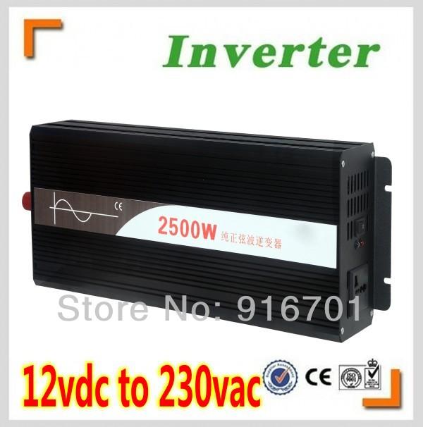 Free Shipping, Off Grid Tie Inverter 2000W DC12V/24V/48V Pure Sine Wave Inverter for Wind Solar System (Black or Blue Color) <br>