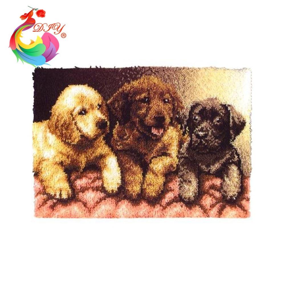 Handarbeiten basteln teppich Hunde diy matte Handarbeite