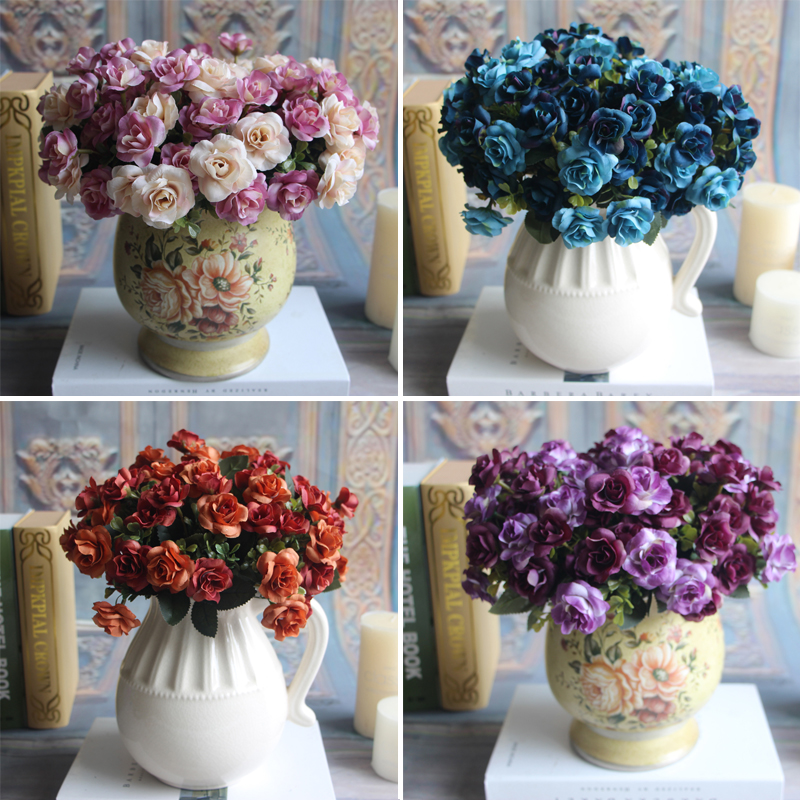 Austin 15 heads Autumn Silk Flowers Artificial Rose Wedding Party Home Decor Flower Arrangement Peony(China (Mainland))