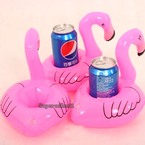 1Pcs hot Mini Cute fanny toys Red Flamingo Floating Inflatable Drink Can Holder Swimming Pool Bathing Beach Party Kids Bath Toy(China (Mainland))