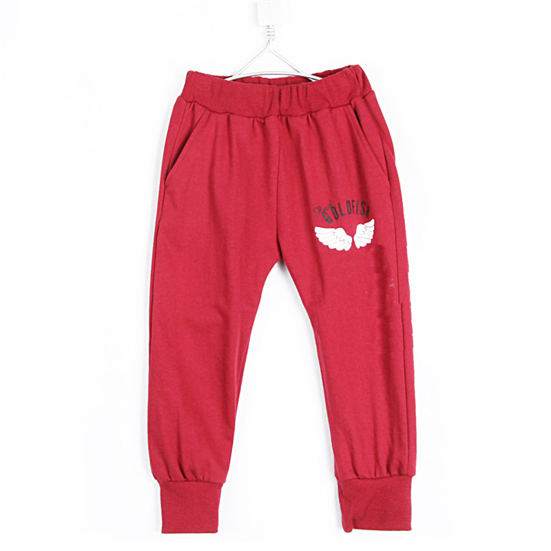 2015 autumn and winter wings male girls clothing child fleece long trousers breeched B0148(China (Mainland))