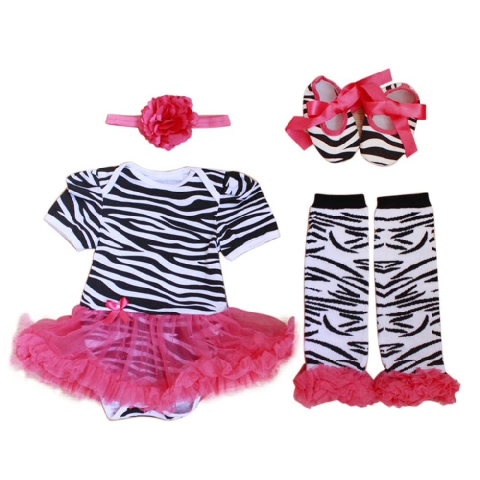 4pcs Newborn Infant Baby Girl Headband+Romper+Leg Warmer+Shoes Outfit Clothes Free Shipping New Free Shipping(China (Mainland))