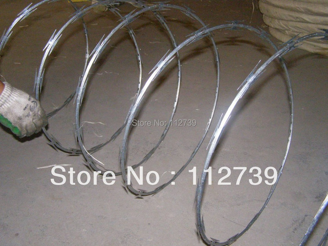 Concertina Wire Supplier, Electro Galvanized Wire 2.8mm,  Standard Length of Per Coil 10m, Outside Diameter 450mm