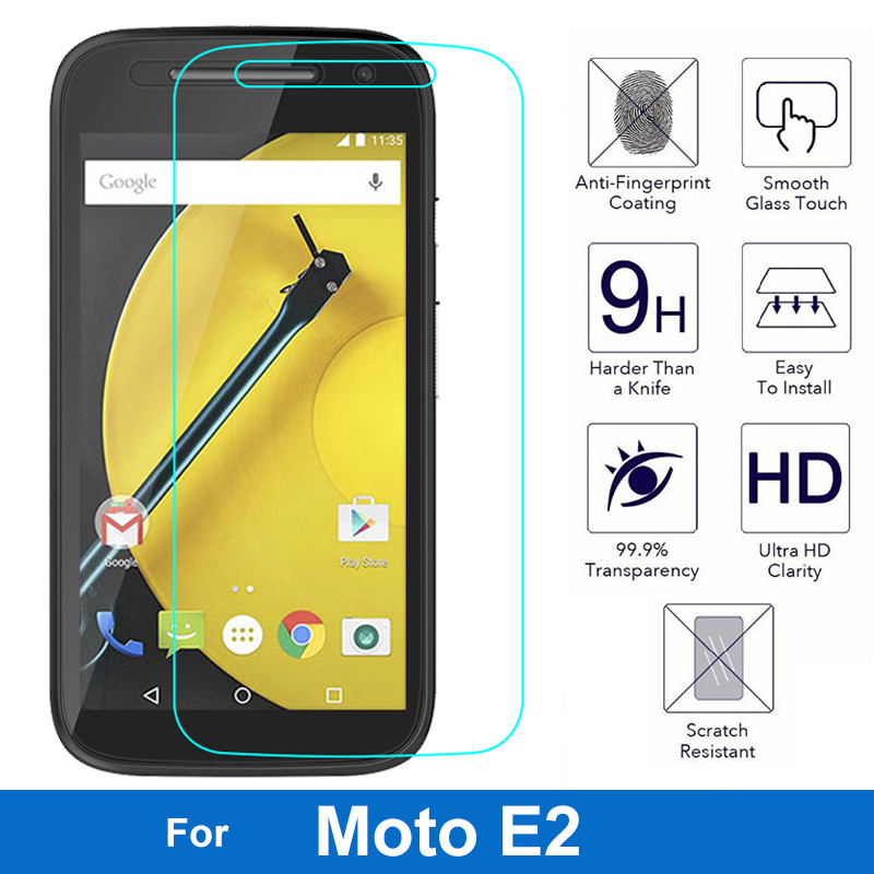 New Premium Tempered Glass Screen Protector Guard Protective Toughed Cover For Motorola Moto E2 E 2nd XT1505 XT1514 XT1521(China (Mainland))