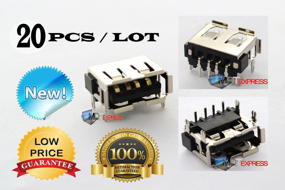 New! 20pcs/lot USB Port Jack Plug-In Socket Motherboard Connector for Acer Aspire 6920 6930 7715(China (Mainland))