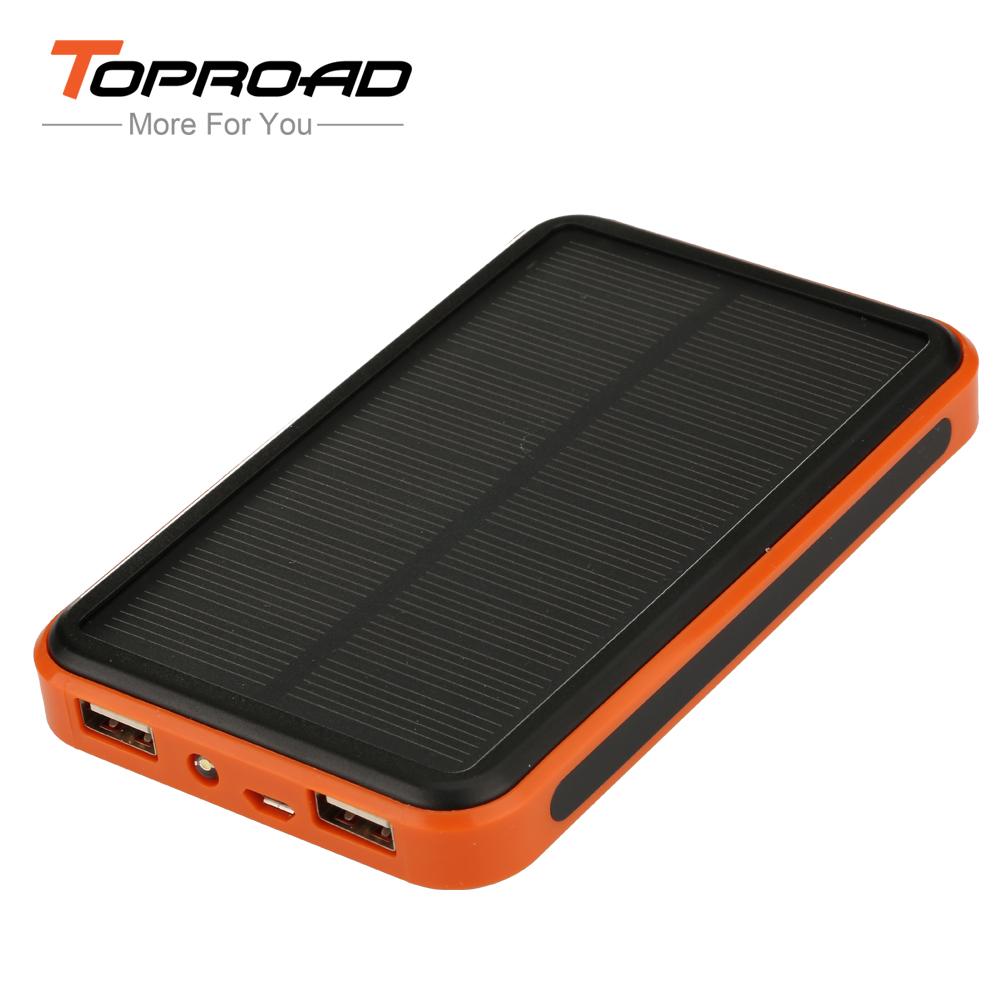 New Solar Charger 10000mAh Power Bank External Battery Backup Portable Powerbank for iPhone/HTC/PSP Smart Phone High Capacity(China (Mainland))