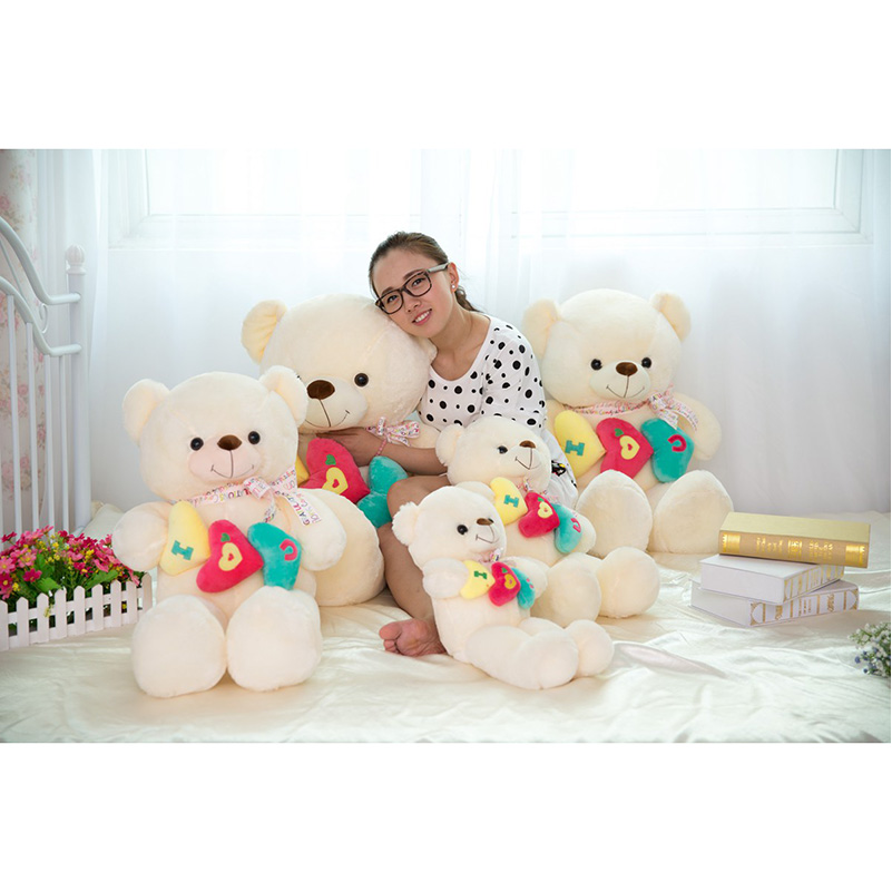 60cm Teddy Bear Plush Toys High Quality And Low Price Skin Holiday Gift Birthday Gift Valentine Gift Stuffed Animals(China (Mainland))