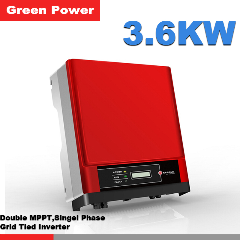GW3600D-NS Goodwe Grid tied inverter,double MPPT single phase 230V 3.6KW output pure wave sine grid tied solar inverter(China (Mainland))