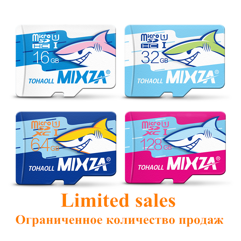 MIXZA Shark edition memory card 8GB 16GB 32GB 64GB 128GB micro sd card class10 flash card Memory microsd for smartphone(China (Mainland))