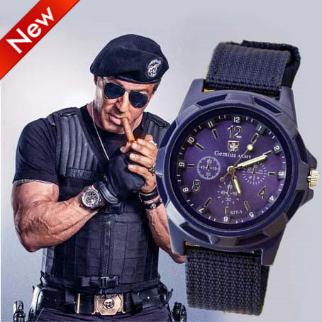 Canvas Strap Military Watch Canvas Strap Fabric Watch