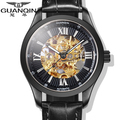 Original GUANQIN Top Brand Luxury Tourbillon Automatic Mechanical Watches Men Antique Sapphire Mirror Luminous Men Watch